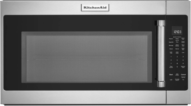 kitchenaid 2 0 cu ft stainless steel over the range microwave kmhs120ess