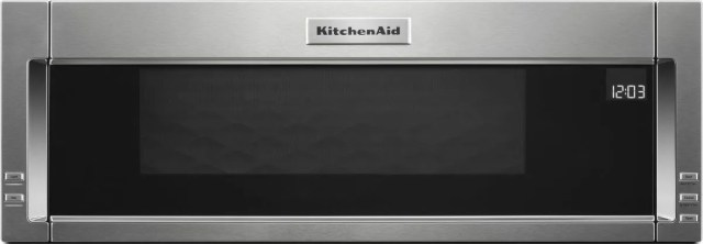 kitchenaid 1 1 cu ft stainless steel over the range microwave hood combination kmls311hss