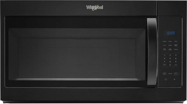 whirlpool over the range microwave black wmh31017hb