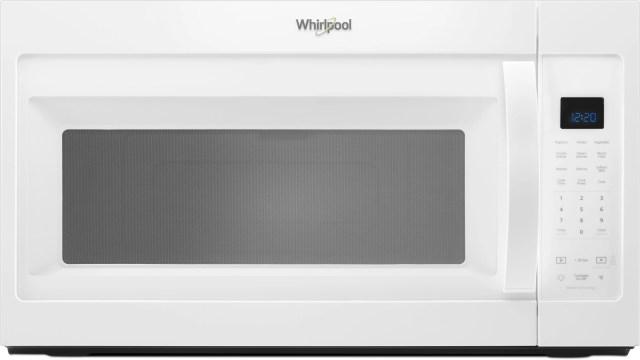 whirlpool over the range microwave white wmh32519hw