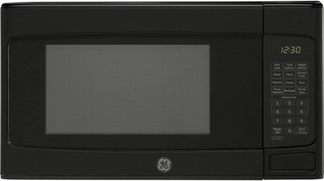 ge 1 1 cu ft black countertop microwave oven jesp113dpbb