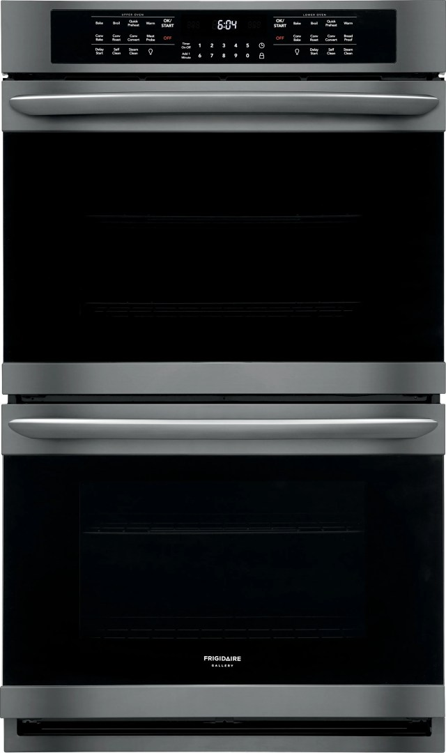 frigidaire gallery 30 black stainless steel electric double oven built in fget3066ud