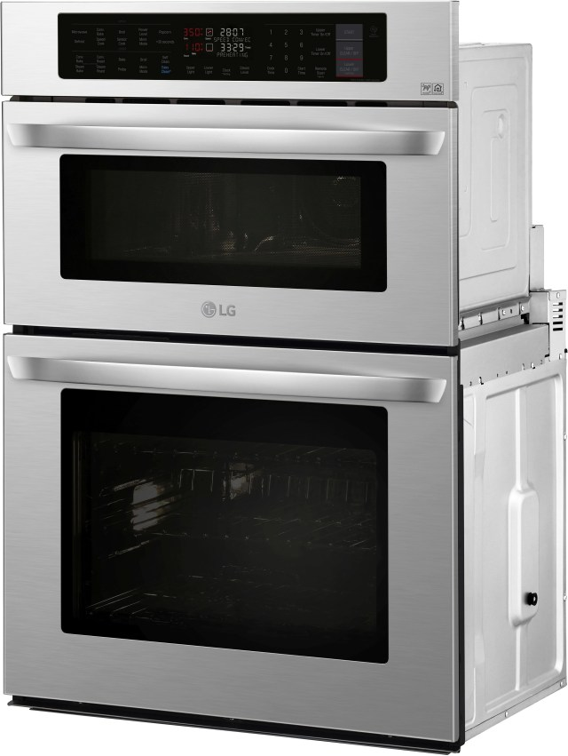 lg 29 75 stainless steel electric oven microwave combo built in lwc3063st