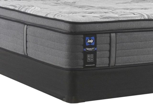 sealy response posturepedic plus q3 determination ii euro pillow top medium queen mattress 52693951