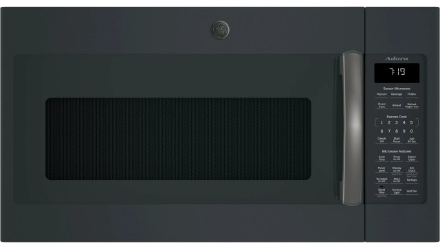ge adora series over the range sensor microwave oven black slate dvm7195flds sd