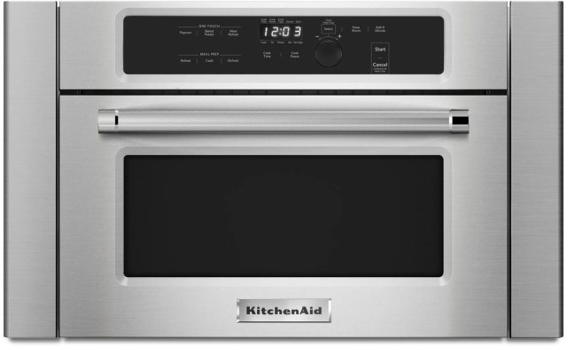kitchenaid 23 75 stainless steel built in microwave oven kmbs104ess