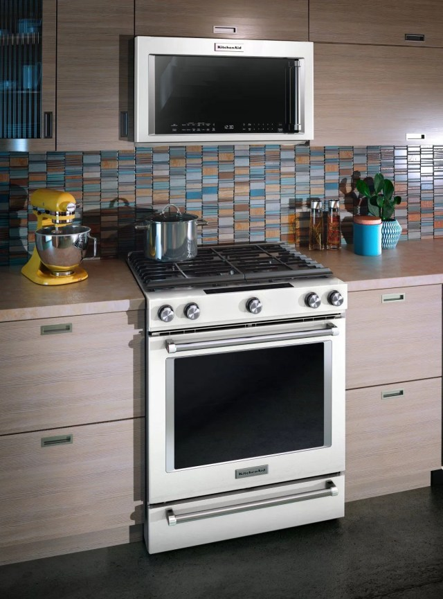 kitchenaid 1 9 cu ft white over the range microwave hood combination kmhc319ewh