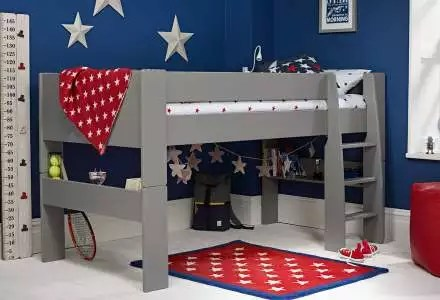 cabin beds with desk storage