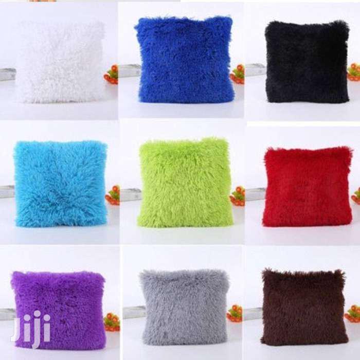 decorative fluffy plush throw pillow case cushion covers 18 x 18