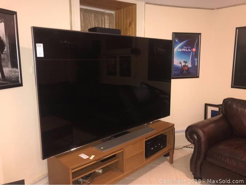 Samsung 85 Inch 4k Ultra Hd 120hz 3d Smart Led Tv B Auction Maxsold
