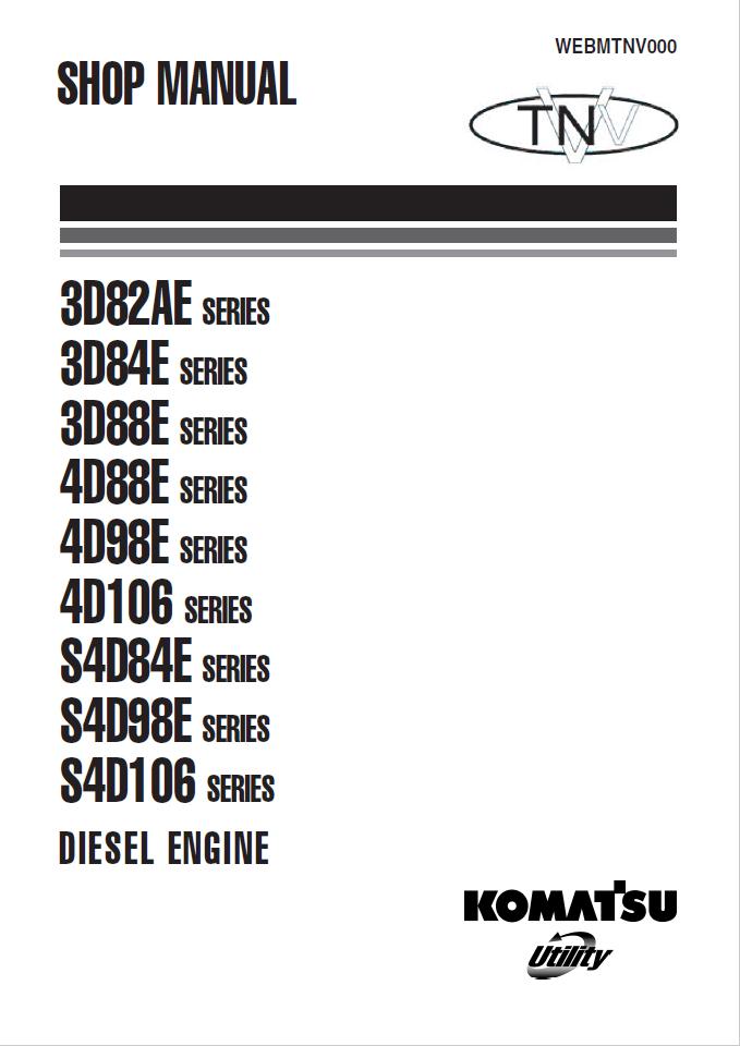 Komatsu SAA4D107E-2, SAA6D107E-2, 107E-2 Series Diesel