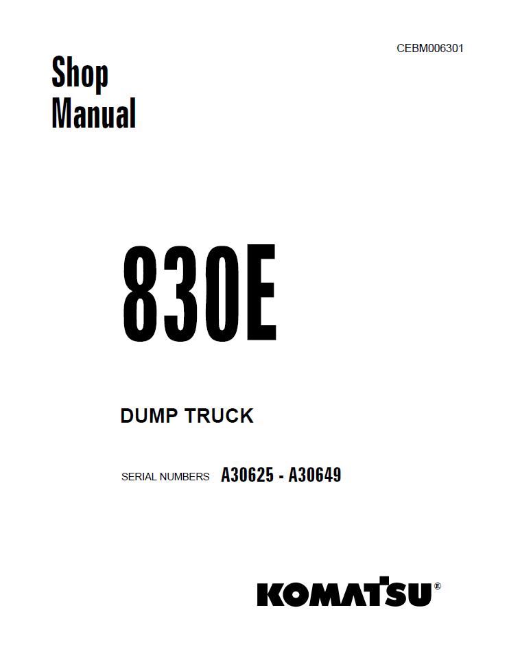 Komatsu PC100-2, PC100L-2, PC120-2 Hydraulic Excavator