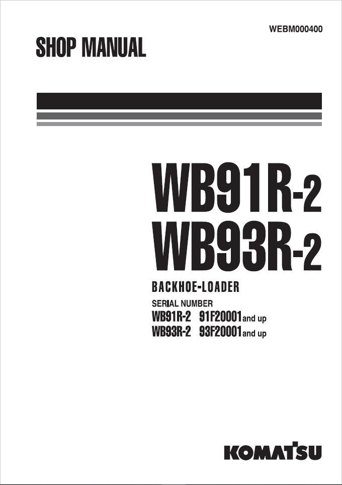 Komatsu GD555-5, GD655-5, GD675-5 55001 and up Motor G