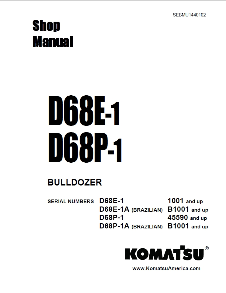 Komatsu D65EX-12, D65PX-12 (EU SPEC.) 65209 and up, 65