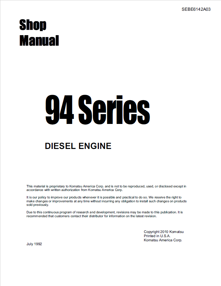 Doosan DX700LC 5001 and up Track Excavator Shop Manual