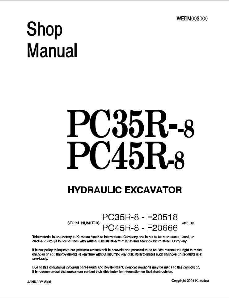 Doosan DX180LC 5001 and up Track Excavator Shop Manual