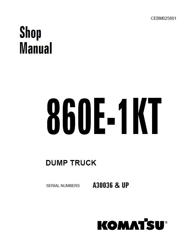 Komatsu Dresser KDC 410, KDC 610 1991 Model Series Eng