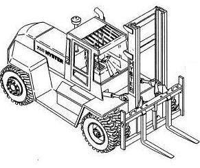 Hyster Forklift D019 Series: H300XL, H330XL, H360XL,