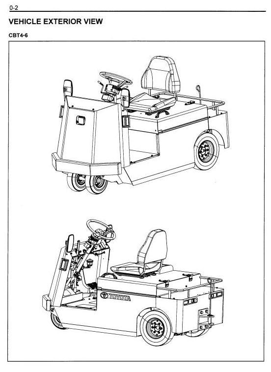 Toyota Floor Runner CBT4, CBT6, CBTY4 Workshop Service