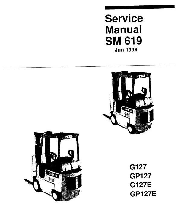 Clark LPG Forklift Truck Type G127, GP127, G127E, GP12
