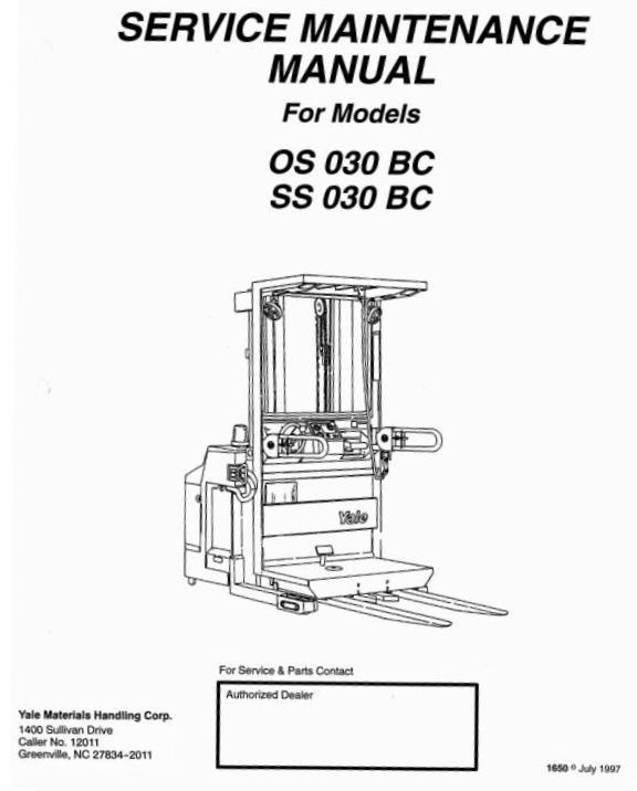 Yale Order Selector OS030BC, SS030BC Workshop Service