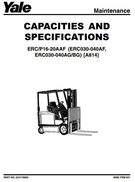 Crown SP3400 (FOUR-POINT) Series Forklift Service Repa