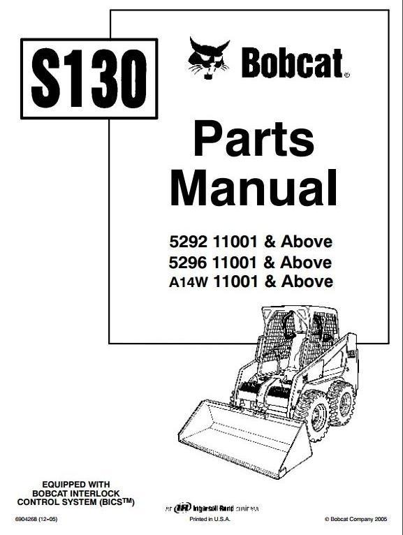 Bobcat Skid Steer Loader S250, S300: S/N A5GM/A5GN/A5G