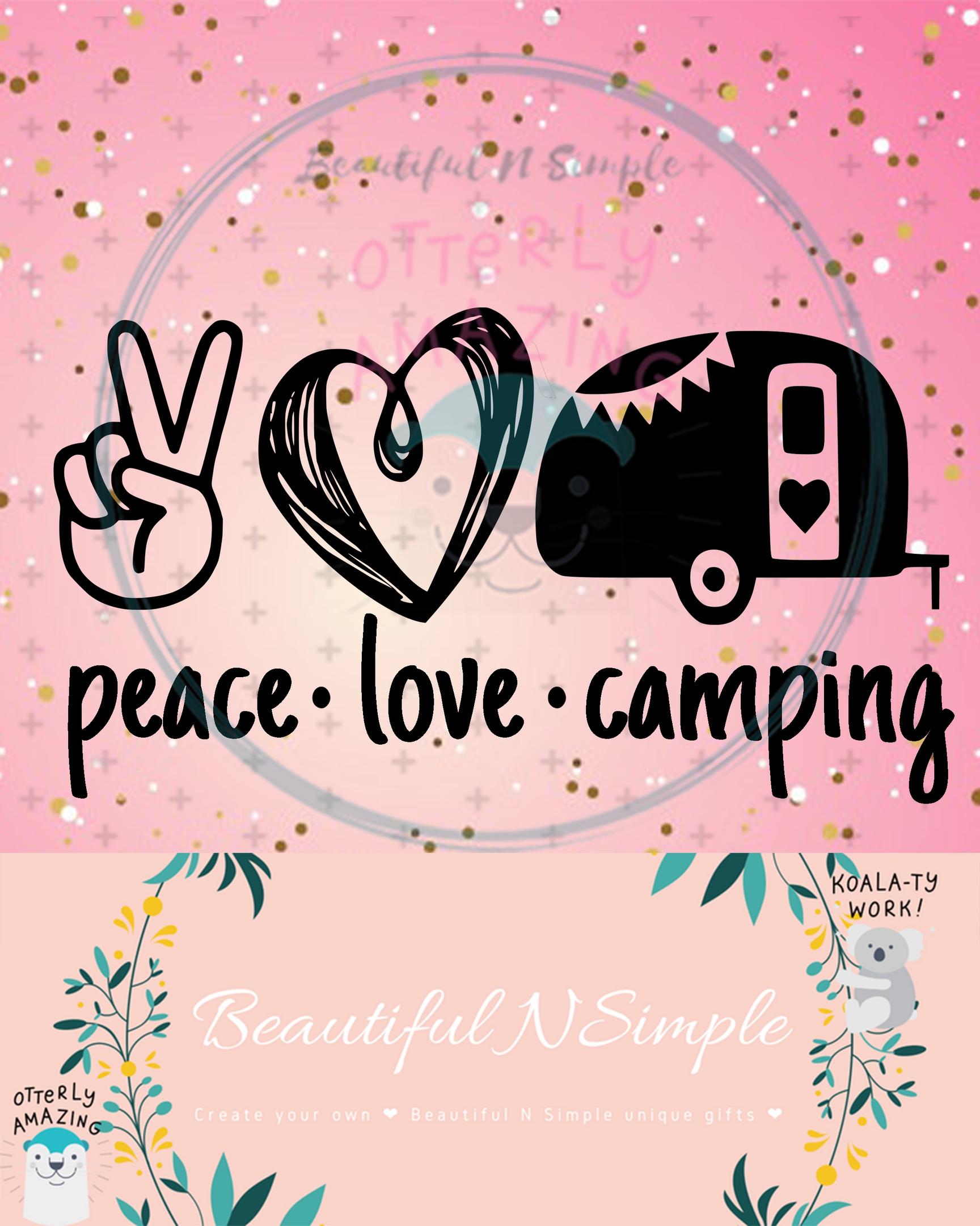 Camping Svg : camping, Peace, Camping, Camper,, BeautifulNSimple