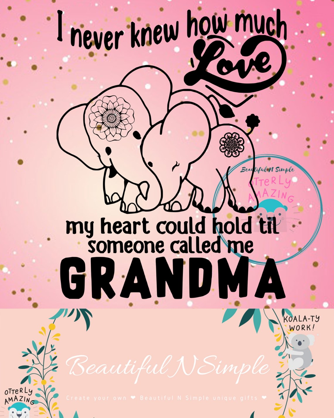 Download Blessed to be Called Mom and Grandma Butterfly Infinit ...