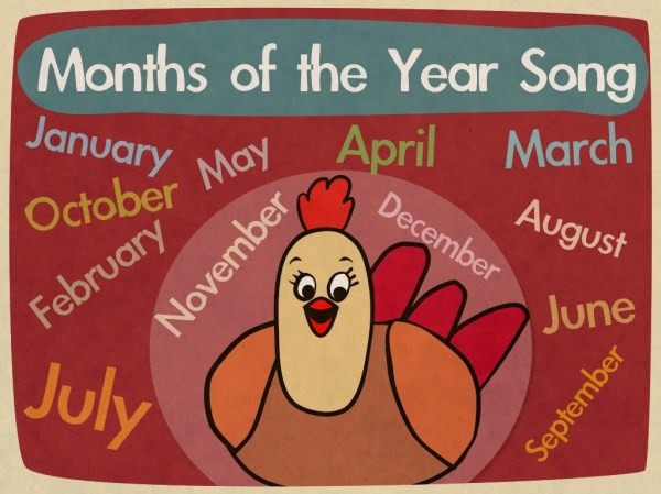 Months Of The Year Song Video Mp4 The Singing Walrus