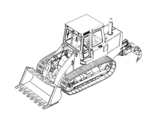 LIEBHERR LR634 with steering pedal CRAWLER LOADER OPER