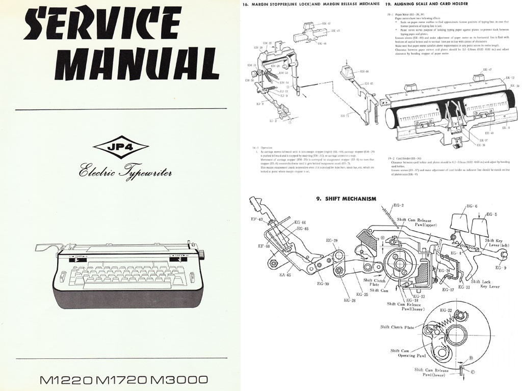 The 1970 AMES Standard & Electric Typewriter Repair Ma
