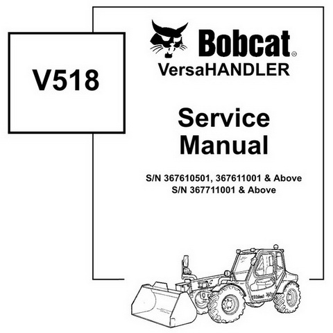 Bobcat 741, 742, 743 & 743DS Skid-Steer Loader Service