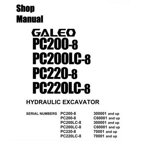 Komatsu PC200, 220(LC)-8 Galeo Hydraulic Excavator Sho