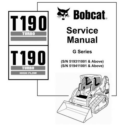 Bobcat 440, 443 & 443B Skid-Steer Loader Service Manua