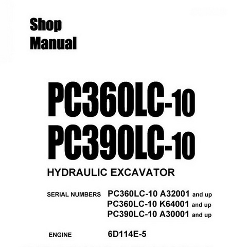Komatsu WB93R-5 Backhoe Loader (F50003-up) Shop Manual