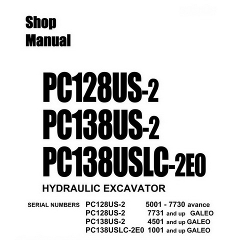 Komatsu PC360LC-10, PC390LC-10 Hydraulic Excavator Sho