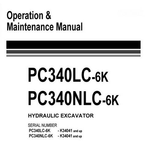 Komatsu PC340LC-6K, PC340NLC-6K Hydraulic Excavator Op