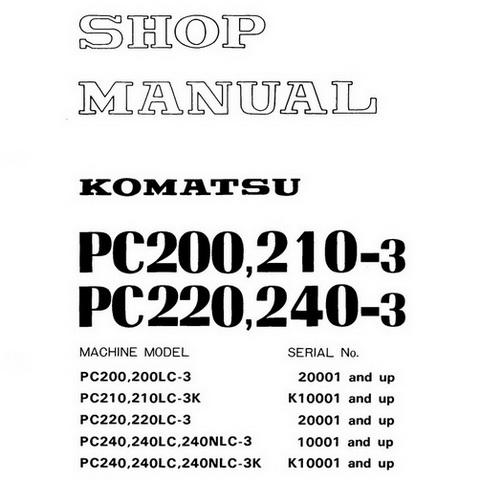 Komatsu WA200-1 Wheel Loader Operation & Maintenance M