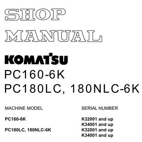 Komatsu PC12R-8, PC15R-8 Hydraulic Excavator Shop Manu