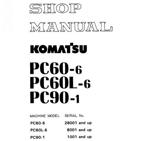 Komatsu PC60-6, PC60L-6, 6 PC90-1 Hydraulic Excavator