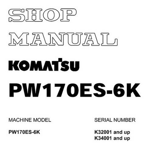 Komatsu WA95-3 Wheel Loader Operation & Maintenance Ma