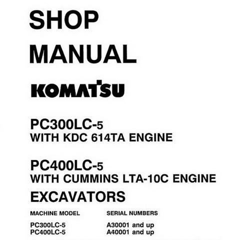 Komatsu PC300-8, PC300LC-8, PC350-8, PC350LC-8 Galeo H