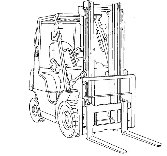 Nissan Forklift Internal Combustion F03 Series Service