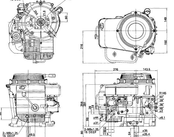 Kawasaki FC150V OHV 4-Stroke Air-Cooled Gasoline Engin
