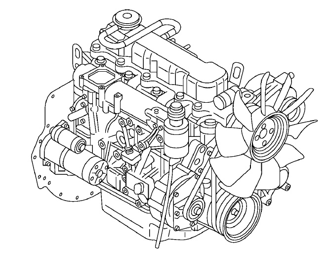 Nissan Forklift TB45 ENGINE Service Repair Manual Down