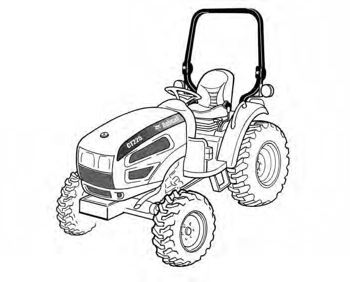 Bobcat CT225, CT230 Compact Tractor Service Repair Man