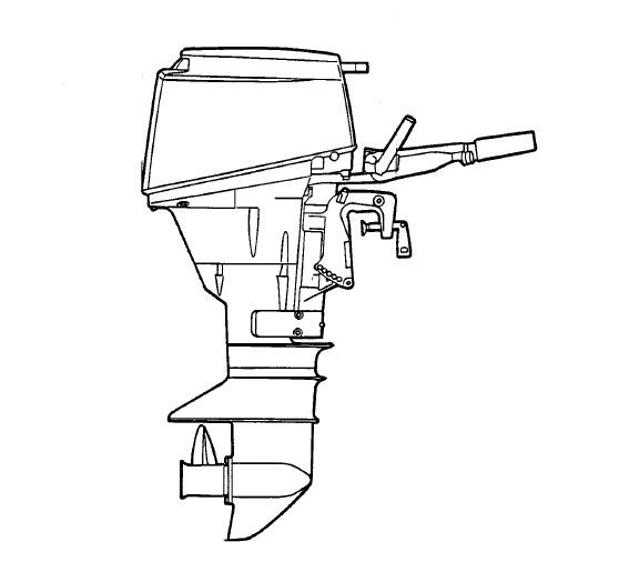 Original Factory Yamaha 25J,30D,25X,30X Outboard Servi