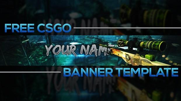 free csgo banner template