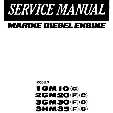 Yanmar SD40/SD40-4T, SD50/SD50-4T Sail Drive Unit Repa